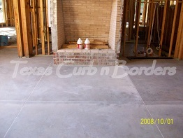 Custom Concrete Floor Staining Before Image