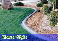 Mower style curbing