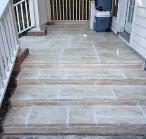 Concrete Resurfacing Stairs in Houston After Image