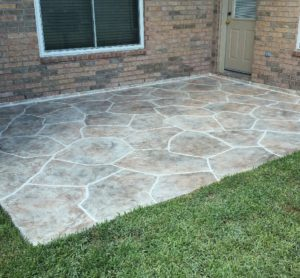 Concrete Resurfacing Patio Houston After Image